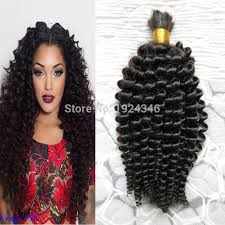 crochet hair with human hair mongolian kinky curly afro crochet braids loose curly hair style