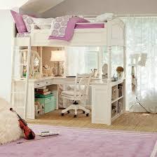 Pink Desk For Girls Bedroom Captivating Full Loft Bed With Desk For Teens