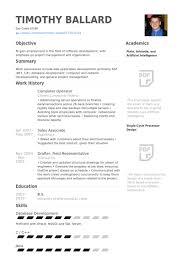Resume For Architecture Job Computer Operator Resume Samples Visualcv Resume Samples Database