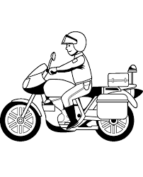 motorbikes colouring 25 print color free