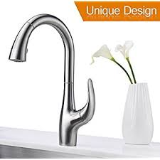 kitchen faucet purelux calla modern design single handle pull high arc