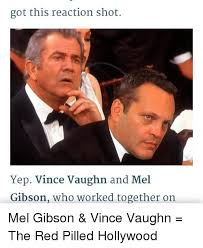 Vince Vaughn Meme - got this reaction shot yep vince vaughn and mel gibson who worked