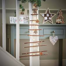 decorative wooden branch hanging tree wall light ladder
