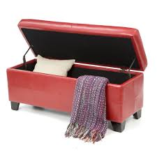 Red Ottoman Red Bench Photos Design Ideas Remodel And Decor Lonny End Of Bed