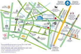 bangkok map tourist attractions royal princess larn luang bangkok hotel map contact