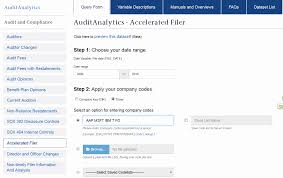 audit analytics researchfinancial