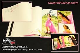 quinceanera guest book motionplus photo and customized guest book for any