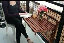 folding balcony table ebay