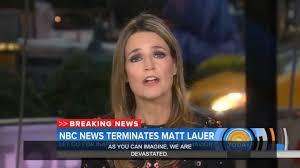 watch u0027today u0027 show announces matt lauer fired for u0027inappropriate