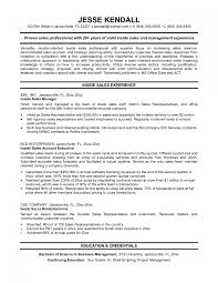 Resume Samples For Sales Representative Outside Sales Resume Examples Splixioo