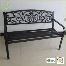 bench order mail order kd cast iron back metal steel tube park garden bench