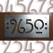 Mission Style House Custom Mission Style House Numbers In Stainless Steel