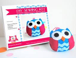 owl sewing kit felt kids u0027 crafts felt sewing kit in a box 8