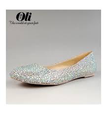 wedding shoes flats silver wedding shoes flats rhinestones clemence sla042