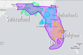 Pensacola Florida Map by Maps Illustrating Which Countries Fit Inside Florida Curbed Miami