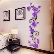 Wall Bedroom Stickers Aliexpress Com Buy Fashion Pvc Flower Mirror Home Art Diy Wall