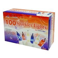 100 white and blue sparkler lights shopko