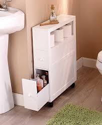 small space storage ideas bathroom slim bathroom storage cabinet rolling 2 drawers open shelf space