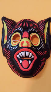 vintage witch plastic halloween mask we wore these kind of masks