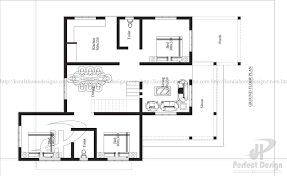 house layout 3 bedroom modern flat roof house layout kerala home design