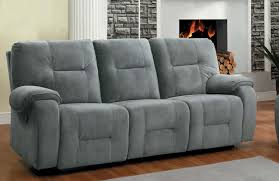 Microfiber Reclining Sofa Homelegance Bensonhurst Power Reclining Sofa Blue Grey