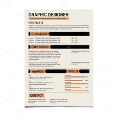 Resume Background Image Resume Template Cv Creative Background U2014 Stock Vector Marchi