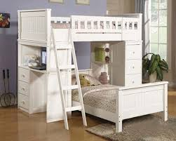 White Twin Canopy Bedroom Set Acme Furniture Loft And Twin Bed Set In White Willoughby Ac10970 8