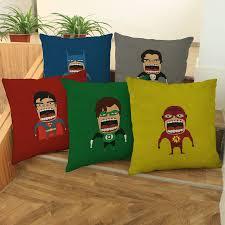 avengers home decor superhero avengers mini cartoon cotton linen cushion cushion for