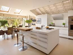 Modern Kitchen With Island Kitchen Large Skylights In Kitchen With Stainless Stell Electric