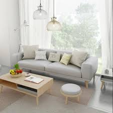 nordic small apartment leather sofa cowhide solid wood leather