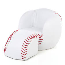 baseball chair and ottoman set gift mark baseball kids novelty chair and ottoman reviews wayfair