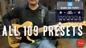 fender mustang 2 presets fender mustang gt40 all 109 presets