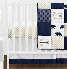 navy blue crib bedding sweet jojo designs arrow 11piece crib