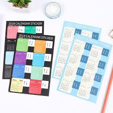 New Year Home Decoration Games aliexpress com buy 10pcs pack new year 2018 calendar stickers