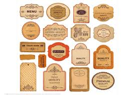 printable vintage labels with papers and ornaments free