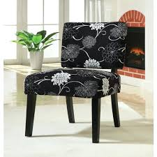 Black And White Accent Chair Black And White Accent Chairs Floral Chair Seat N Sleep With