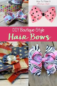 hair bows diy boutique style hair bows