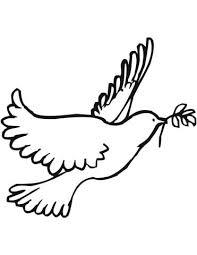 Coloriage  Colombe de la paix  Coloriages à imprimer gratuits