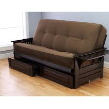 furniture comfortable cheap futons in brown with cushion on