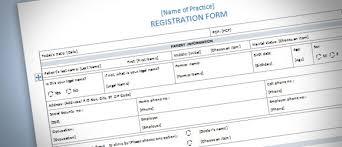 Registration Form Template Excel Patient Presentation Template Tomium Info