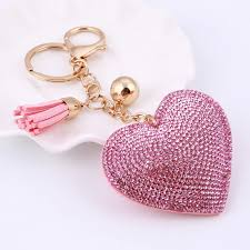 love key rings images Buy love heart keychain 6colors full crystal key jpg