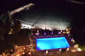 londa hotel pool at night and world adventurer