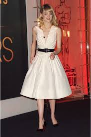 stone oscar awards 2013 white a line cocktail party dress