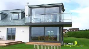 glass slide doors express bi folds stunning glass sliding doors youtube