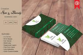 Beauty Spa Business Cards Spa U0026 Beauty Business Card Business Card Templates Creative Market