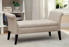 Decorative Bench With Storage White Fabric Storage Bench Decorative For Covers Fabric Storage