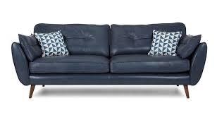 Navy Blue Leather Sofa Blue Leather Sofa Aifaresidency