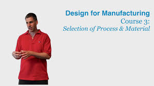 Design For by Design For Manufacturing Course 3 Selection Of Process And