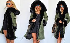 Warm Winter Coats For Women Roiii Women U0027s Winter Faux Fur Hooded Plus Size Parka Jacket Coat