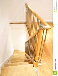 Chrome Banister Modern House Interior Stairs With Chrome Railing Royalty Free